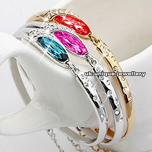 Crystal-Diamond-Bracelet-Xmas-Present-Gift-For-Her-Wife-Mum-Sister-Girl-Women