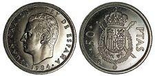 ESPAÑA 50 pesetas 1984 Juan Carlos I  calidad S/C  MUY RARA