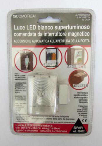 Domotica luce LED automatica bianca superluminosa con interruttore magnetico new