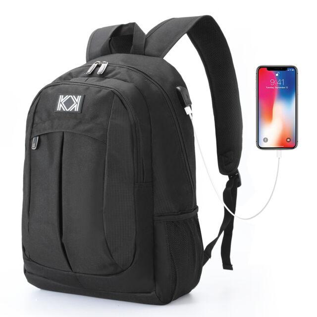 8e405a8223de 15.6 inch Laptop Backpack School College Bag Travel Backpack Rucksack + USB  Port