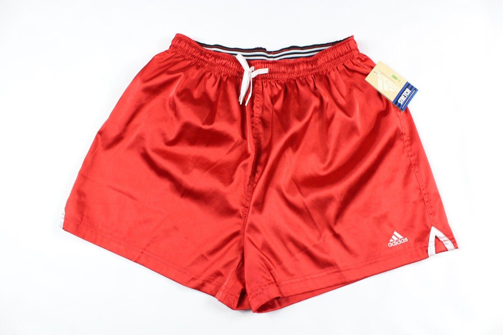 Jahrgang der 90er Jahre neue Adidas Adult XL buchstabieren Fußball Jogging Gym Shorts rot