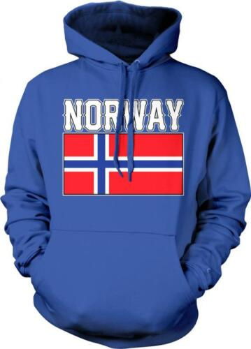 Norway Text Flag Noreg Norge Flagg Nordmann Norwegian Pride Hoodie Pullover