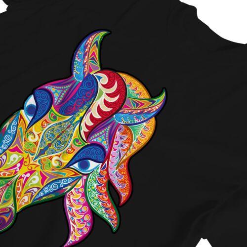 1Tee Womens Abstract Horse Head Colourful T-Shirt