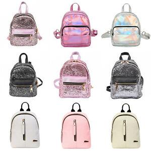 Fashion Women Girls Pu Leather Mini Backpack Travel School Backpack