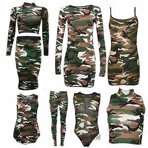 Ladies-Women-Camouflage-Army-Sleeveless-Vest-Top-Leggings-Shrug-Skirt-Plus-Size