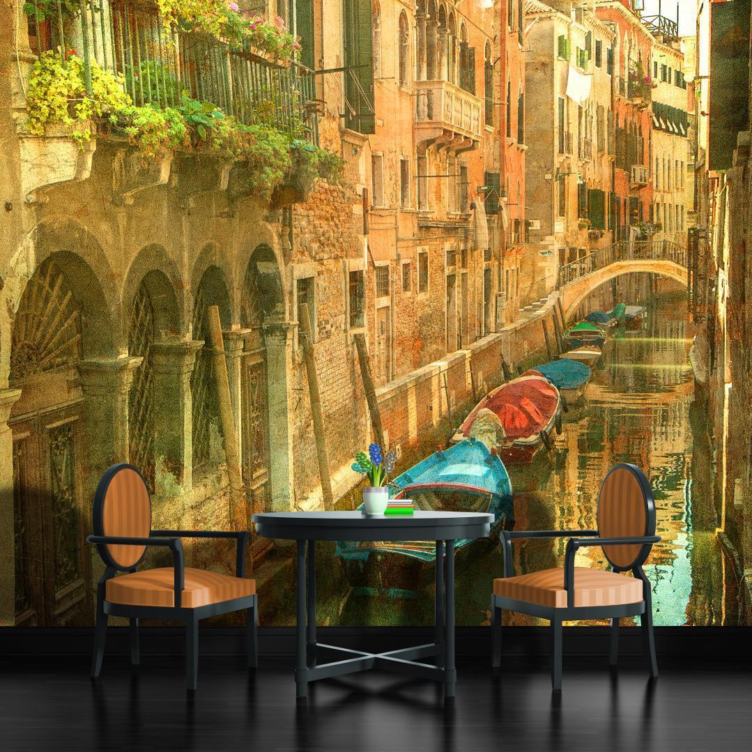 Vlies Fototapete Fototapeten Tapete Tapeten Wandbild SegelStiefel Venedig 156 VE