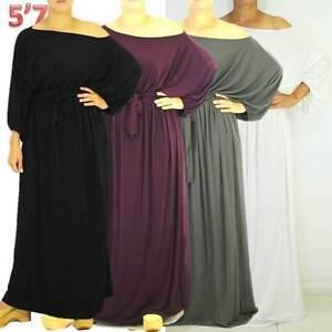 NWT-Plus-Sz-L-XL-2X-14-16-18-NEW-Jersey-Spandex-Off-One-Shoulder-Maxi-Long-Dress