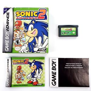 Sonic-Advance-2-Nintendo-Game-Boy-Advance-2003-Authentic-Complete-Tested