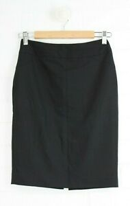 CUE-Black-Straight-Pencil-Skirt-Fully-Lined-Size-6