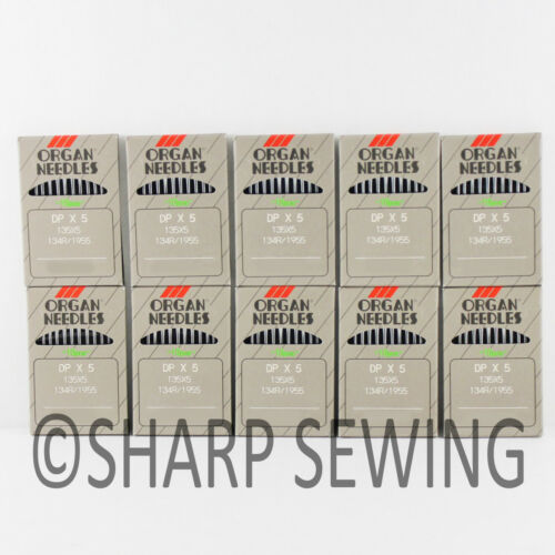 100 ORGAN 135X7 #22 INDUSTRIAL SEWING MACHINE NEEDLE 135X5 DPX5 SY1955 134R