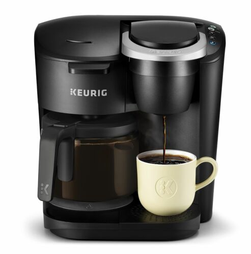 Keurig K-Duo Essentials Coffee Maker with Single Serve K-Cup Pod and 12 Cup Car