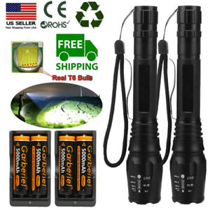 50000LM-T6-LED-Rechargeable-High-Power-Torch-18650-Zoom-Flashlight-Lamp-Light-US