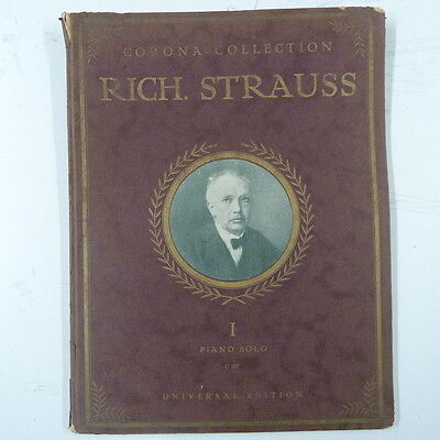 piano solo RICHARD STRAUSS 1 corona, celebrated compositions