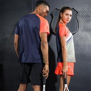 Lovers-Couple-Clothes-Table-Tennis-Badminton-Uniform-GYM-Suit-Jersey-amp-Shorts-Set