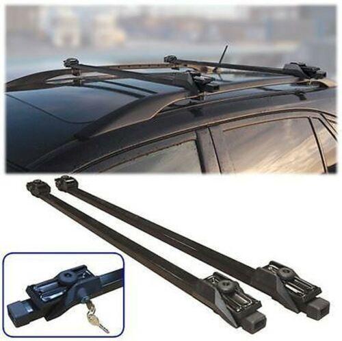 Universal Con Llave Antirrobo De Coche Techo Barras para los vehículos con rieles de bloqueo barra techo