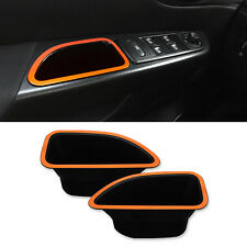 Front Inside Door Pocket Kit Orange 2p 1Set For 2014-2016 Renault Captur : QM3