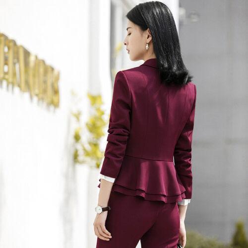 Completo Slim Manica A E Lunga Rosso Cod Giacca Donna Pantalone 7152 Tailleur 7qdf7
