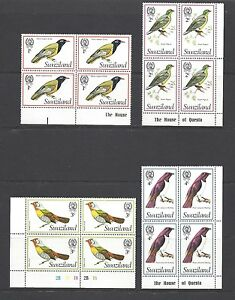 SWAZILAND 1976 SG 236/250 MNH Blocks of 4 Cat £84