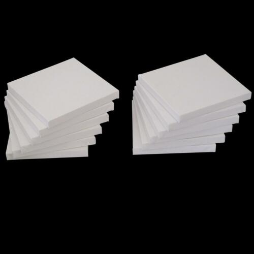 "Set of 12 Artists Blank Canvas 15cm x 15cm Flat Canvas 6/"" x 6/"" Gesso Primed 17mm"