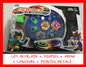 set lot 4 toupie beyblade metal master arene de combat lanceur pointe jeu jouet ebay. Black Bedroom Furniture Sets. Home Design Ideas