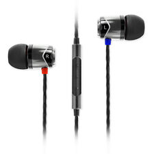 SoundMAGIC E10C In Ear Isolating Earphones with Mic - Black & Silver- NEW
