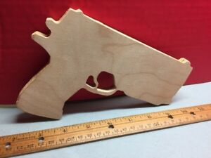 Fallout-Vault-Dueller-10mm-Wooden-Craft-Oak-Cosplay-Paintable
