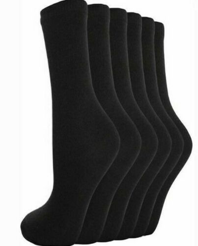 New socks Daily Work School Women/'s Boys /& Gents Kids Plain Cotton Mix Ankle