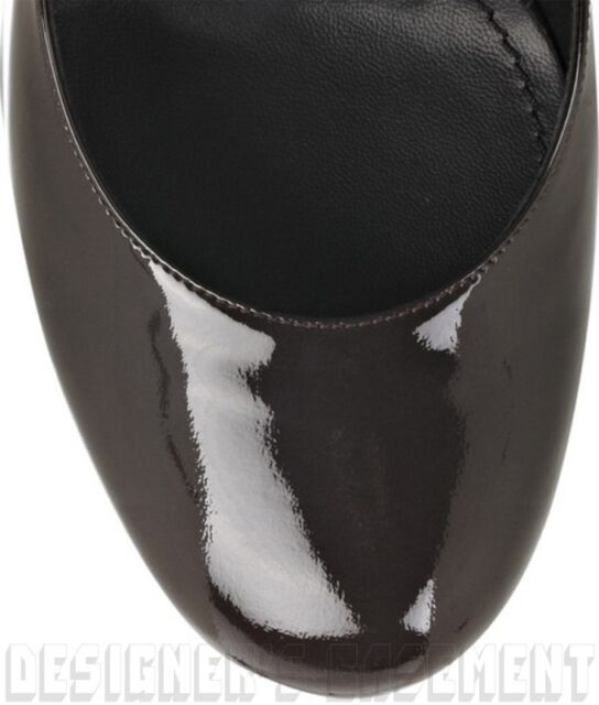 9c4bf9fe698 Yves Saint Laurent Black 38.5  Patent Leather Tribtoo 105 Platform Shoes ATH  for sale online