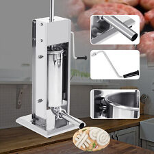 7l Manual Sausage Stuffer Commercial 2 Speed Stainless Steel Meat Filler Sausage