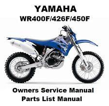 yamaha wr450f s owner s service workshop manual ebay rh ebay com au yamaha wr450f workshop manual 2005 wr450f workshop manual