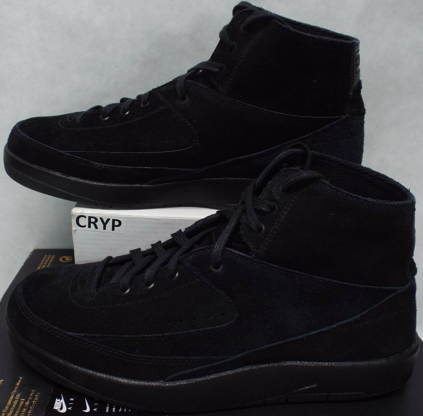 New Mens 10.5 NIKE Jordan 2 Retro Decon Black Suede Leather ShoesPrice reduction Comfortable and good-looking
