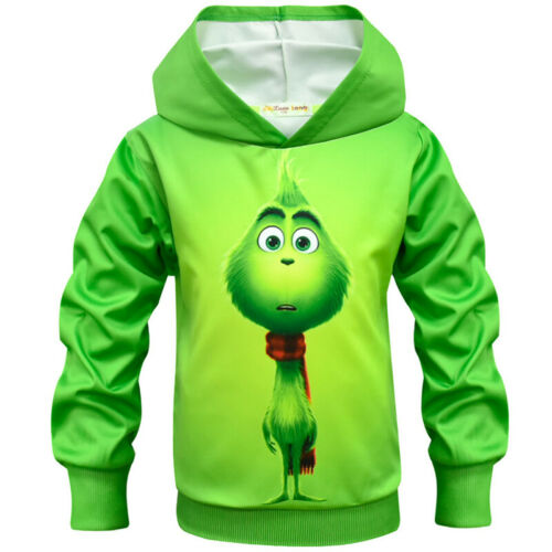 Kids Boys Girls The Grinch Cartoon Hoodies Sweatshirt Jumper T-shirt Top Cosplay
