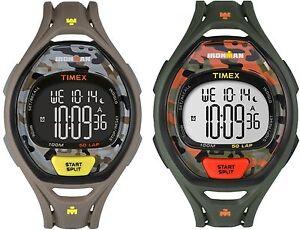 Timex Ironman Sleek 50-Lap | Full-Size Timer Recall Camouflage | Sport Watch