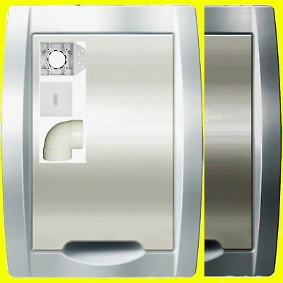 Saugdose Premium EVO Weiß Silber Elfenbein Set`s 1-5fach Zentralstaubsauger