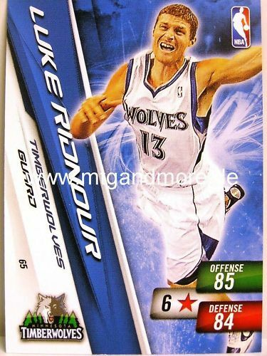 Minnesota NBA adrenalyn xl 2011-Luke ridnour #065