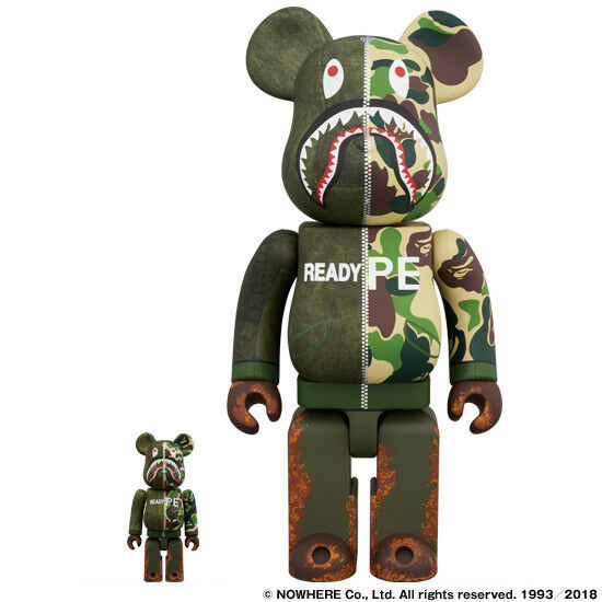 e8a2cbee Medicom BE@RBRICK Bape Readymade Shark 100 400 a Bathing Ape Bearbrick for  sale online | eBay
