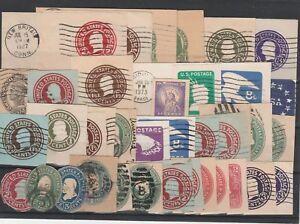FRANCOBOLLI-1887-1973-USA-STATI-UNITI-LOTTO-RITAGLI-DI-INTERI-D-6057