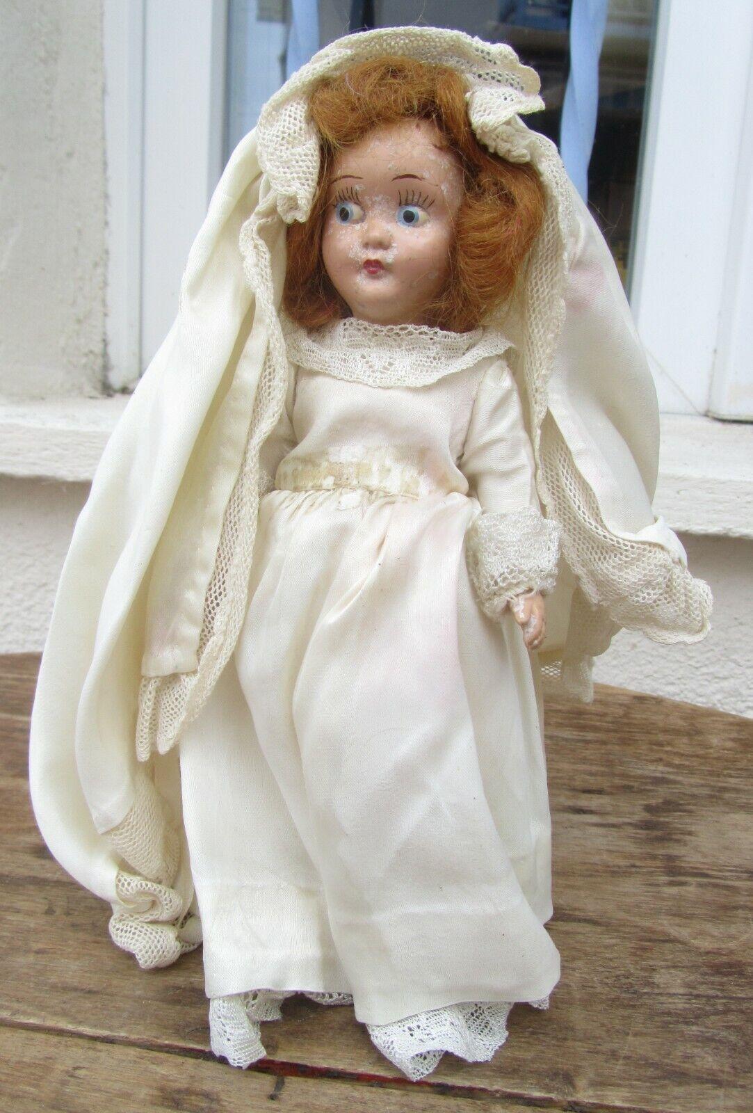ANCIENNE POUPEE MARIEE MARIAGE  CELLULOID  alla moda