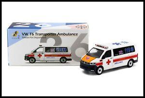 TINY 26 Taiwan Fire Department VW Volkswagen T6 Transporter Ambulance 1/64 TW26