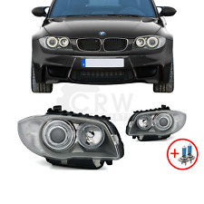 Scheinwerfer Set BMW 1er E87 Bj. 04-11 chrom  Angel Eyes inkl. H7 S4E