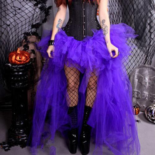 Damen Burleske Turnüre Tüll Tutu Netz Schier Partyrock Halloween Kostüm