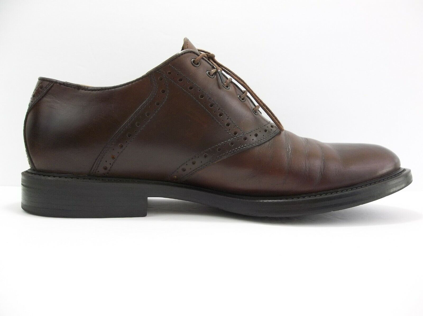 Johnston & Murphy Men's Shoes Brown Brogue Oxford Leather Dress Size 11 Italy