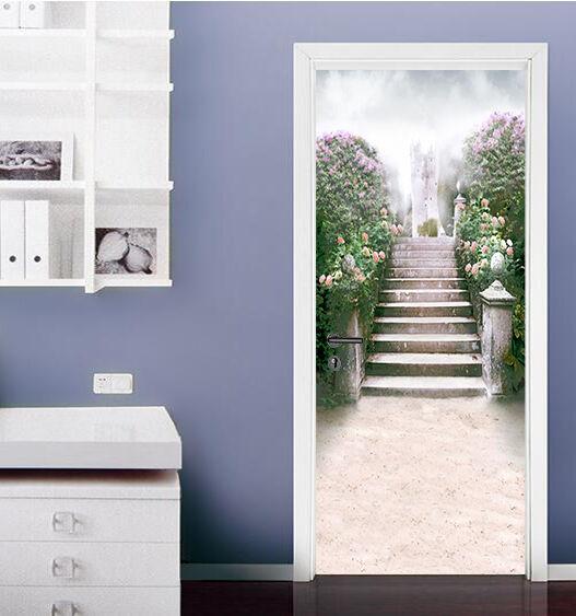 3D Blaumen Schritte Tür Wandmalerei Wandaufkleber Wandaufkleber Wandaufkleber Aufkleber AJ WALLPAPER DE Kyra | Meistverkaufte weltweit  | New Style  | Üppiges Design  811039