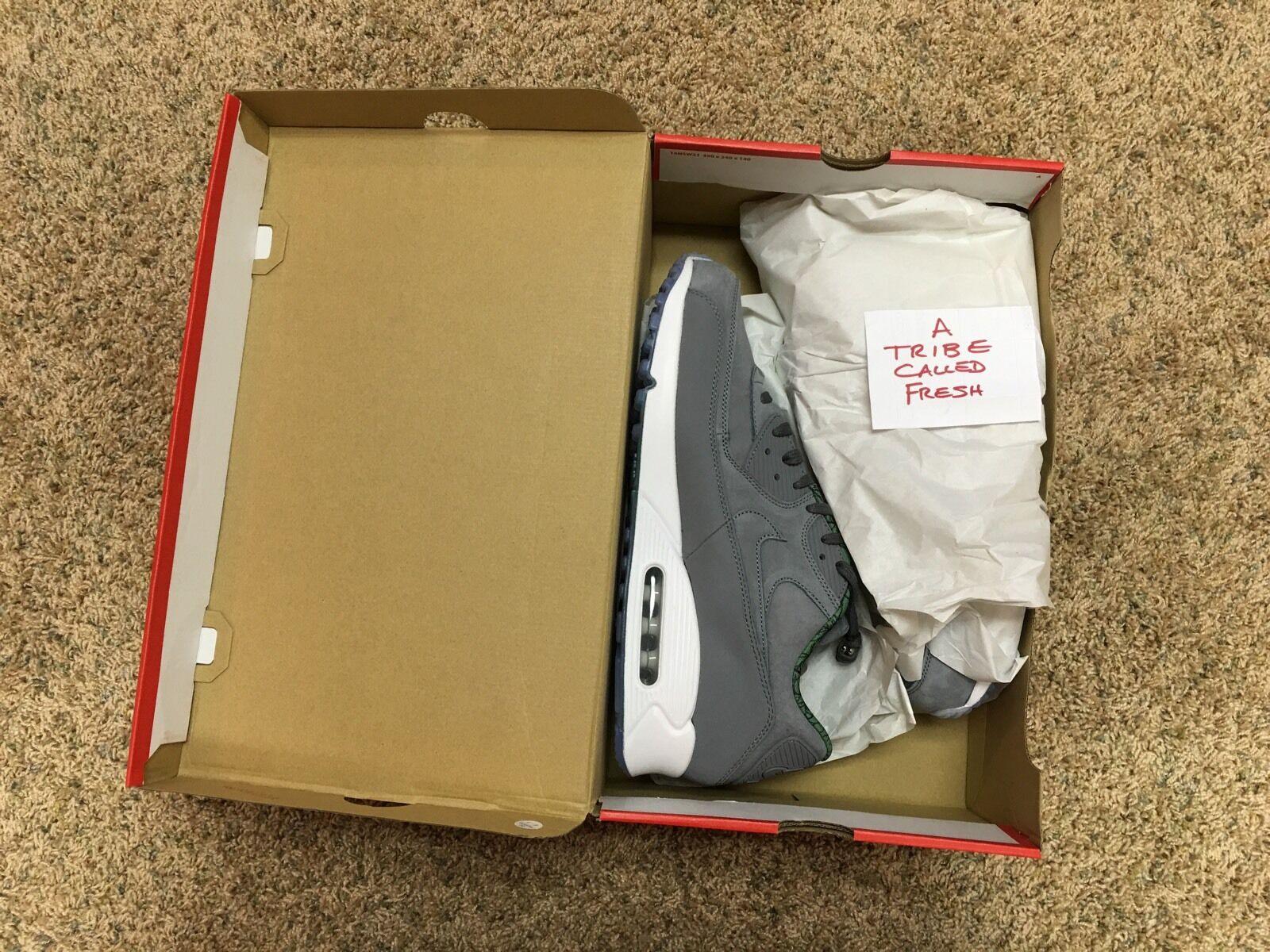 Nike Air Max 90 PRM QS Cool Grey 836302 002 CHI 312 SNKRS NIB AM90 DS QS Size 14