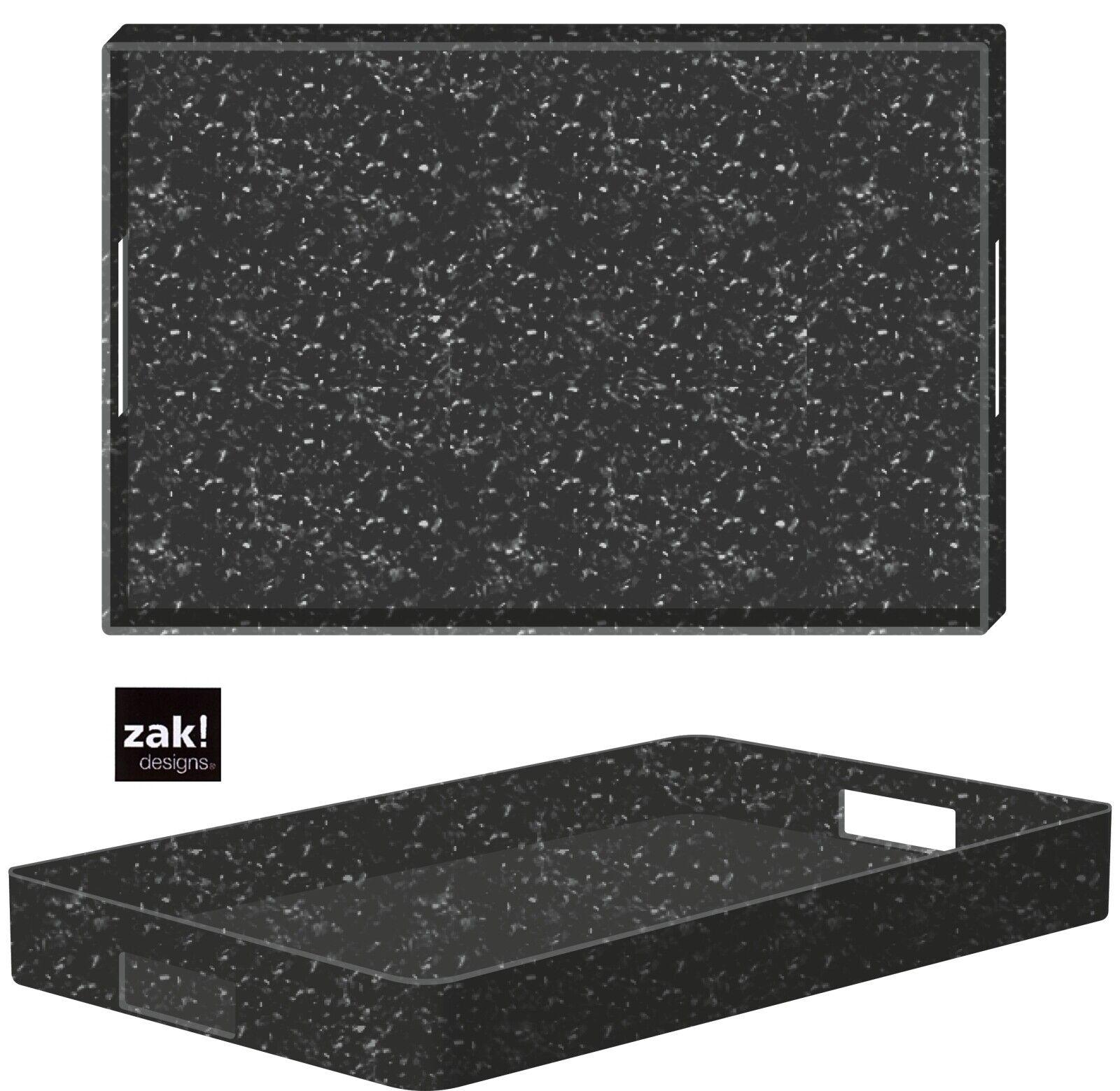 Zak Designs XL Tray Mono Grey Matt melamiert Rice Bran 48x31 Garden Tray