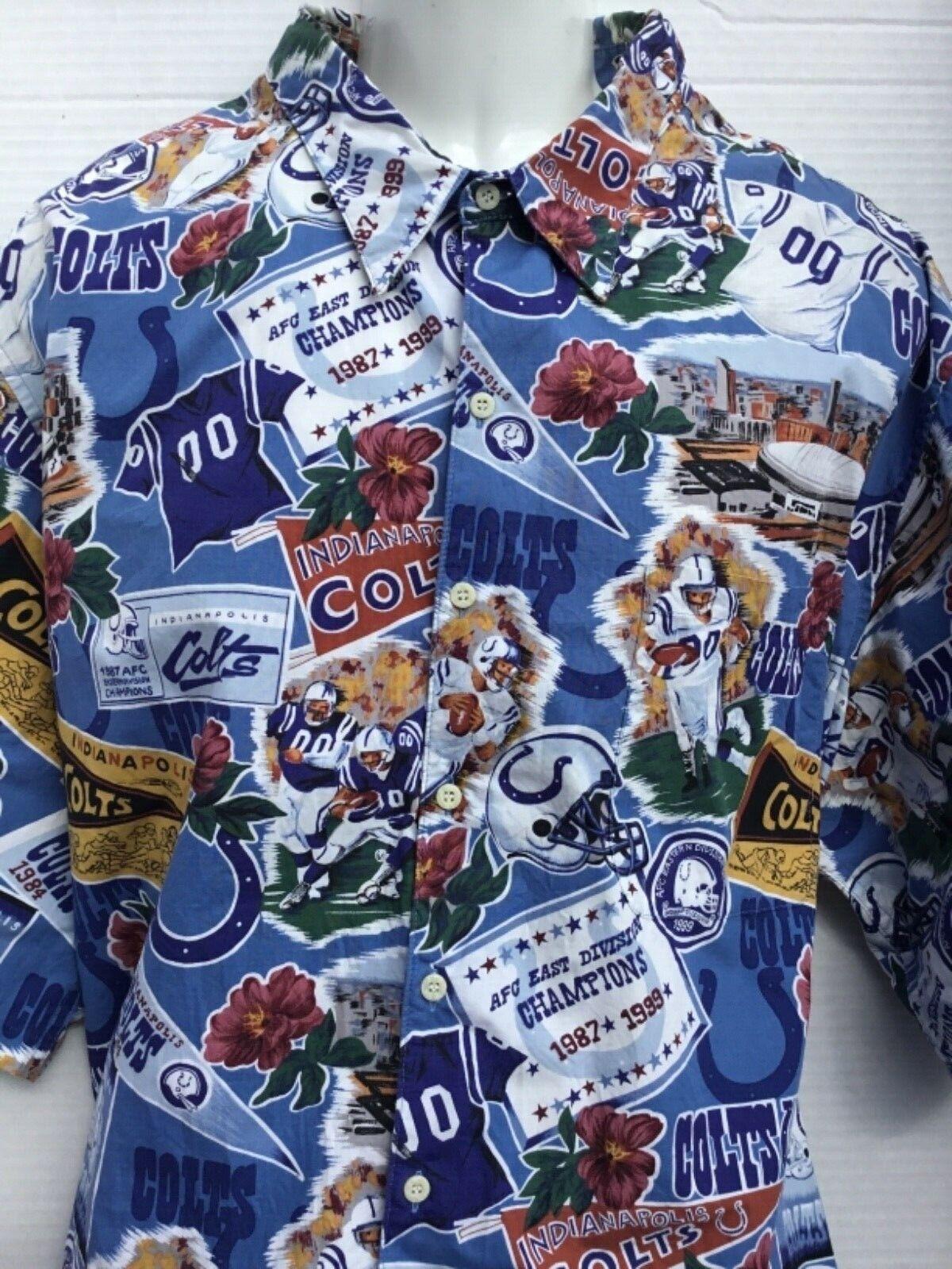 da0e190b Indianapolis Colts NFL Football Reyn Spooner Mens XXXXL 4XL Hawaiian Shirt