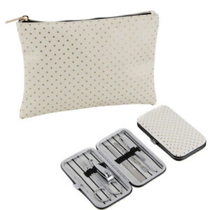 7c1fde2ac9 LADIES Gold Polka Dot TRAVEL Small Wash Bag Manicure Christmas GIFT ...
