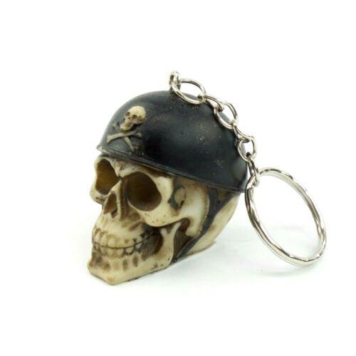 Keychain Skull Head With Helmet Skeleton Head Biker Gothic Halloween Skulls