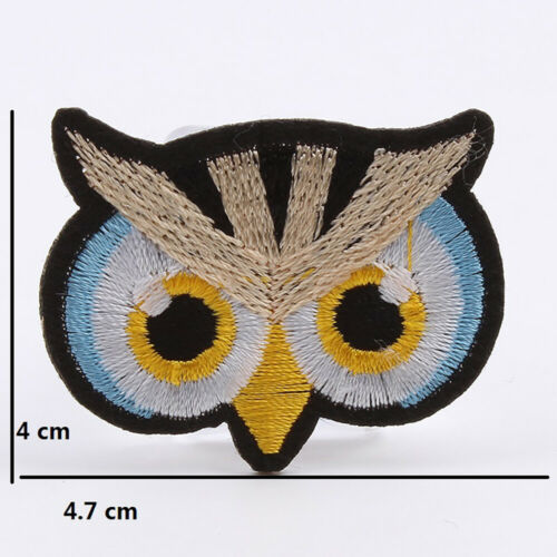 10pcs Owl Embroidered Patches Iron Sew On Appliques Badge Fabric Sticker Craft