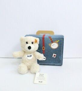 Steiff Sunny Cream Teddy Bear in Suitcase Stuffed Animal Plush Toy 22cm #113352